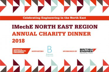 The menu from this year's Institution of Mechanical Engineers North East Annual Charity Dinner