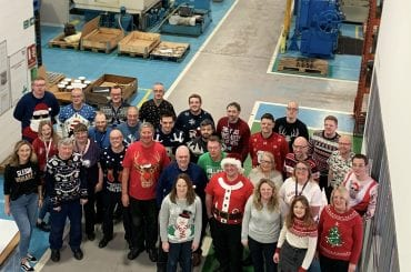 British Engines employees wearing Christmas Jumpers