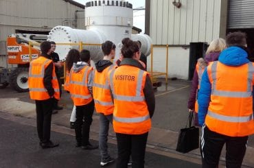 Students visiting BEL Valves, part of the British Engines Group, for an apprenticeship myth busting session with NE1 Can