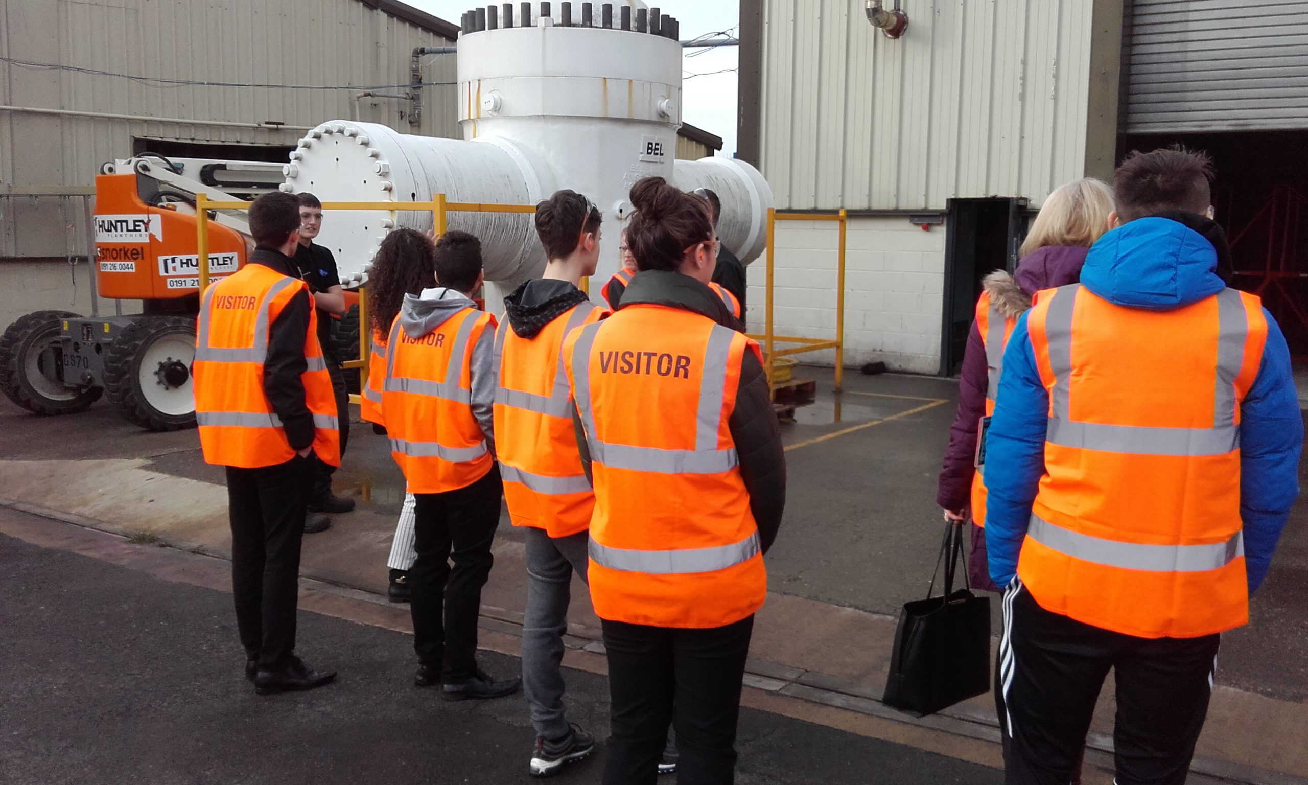 Students visiting BEL Valves, part of the British Engines Group, for an apprenticeship myth busting session with NE1 Can to debunk apprenticeship myths