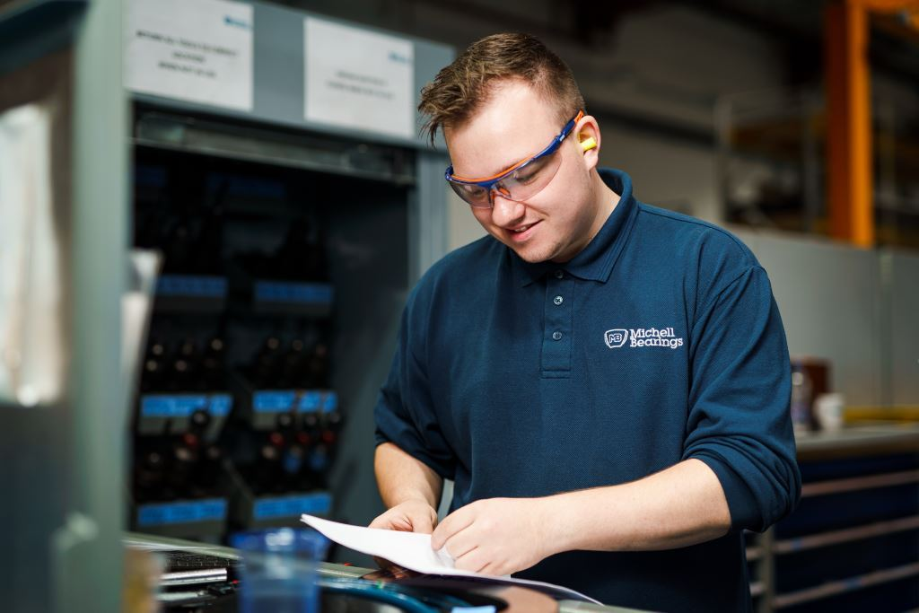An engineering apprentice at British Engines