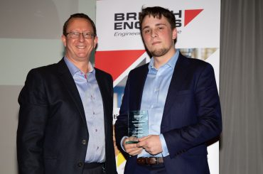 Corey, shortlisted for an award at the Make UK Manufacturing Awards at the British Engines Awards 2019 with British Engines CEO, Richard Dodd.