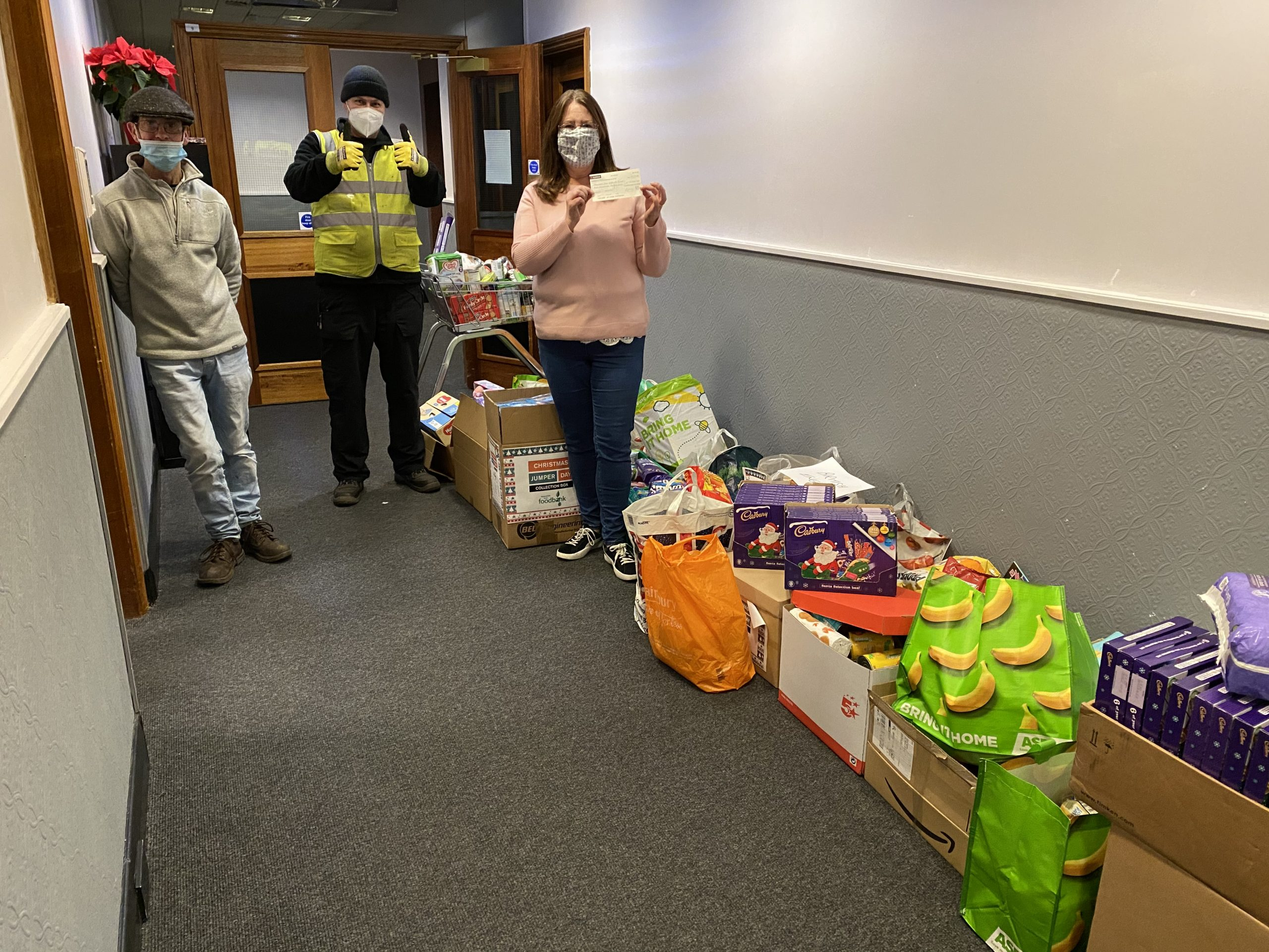 Newcastle East food bank receiving British Engines' donations